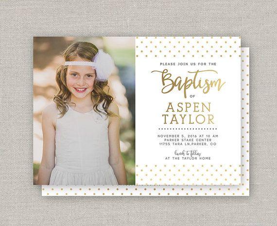 Invitación del bautismo LDS Aspen | comunion | Pinterest | LDS ...