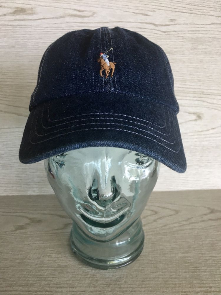 c58f36e3e POLO RALPH LAUREN Mens Cotton Denim Baseball Cap Sport Hat Blue Jean ...
