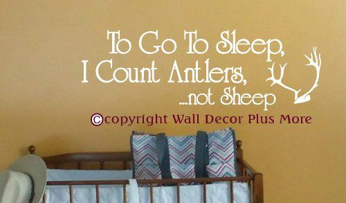 Wall Decor Plus More WDPM2967 To Go to Sleep I Count Antlers Not ...