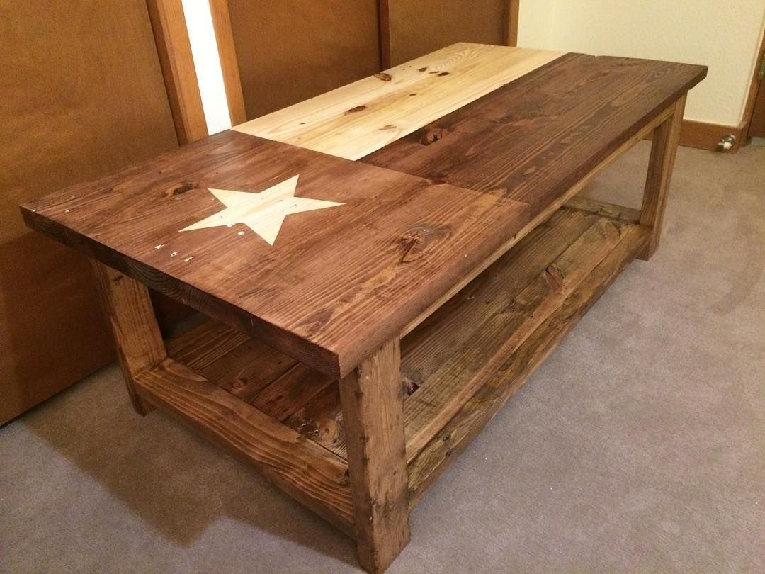 The Final Coffee Table We Have Finished Up For This Weeks Orders Texas Flag