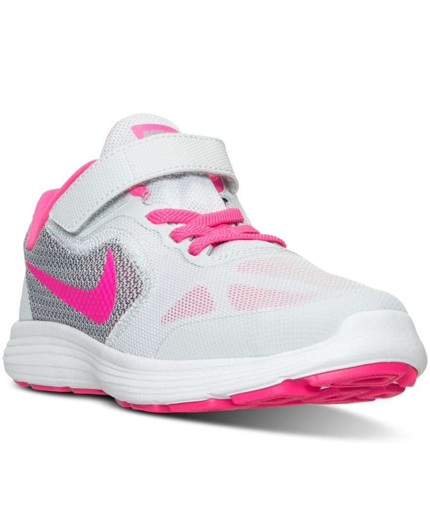 0b657cd3668 Nike Little Girls  Revolution 3 Running Velcro Sneakers from Finish Line
