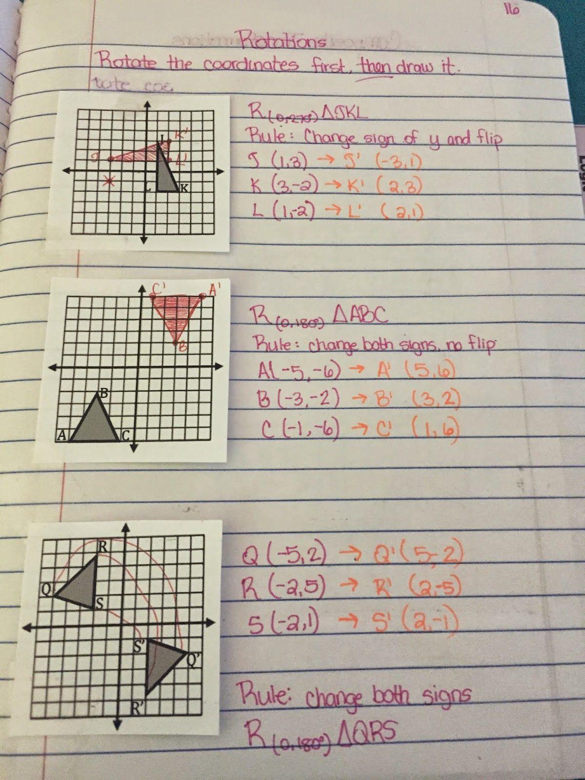 Misscalcul8 Geometry Unit 1 Transformations Interactive