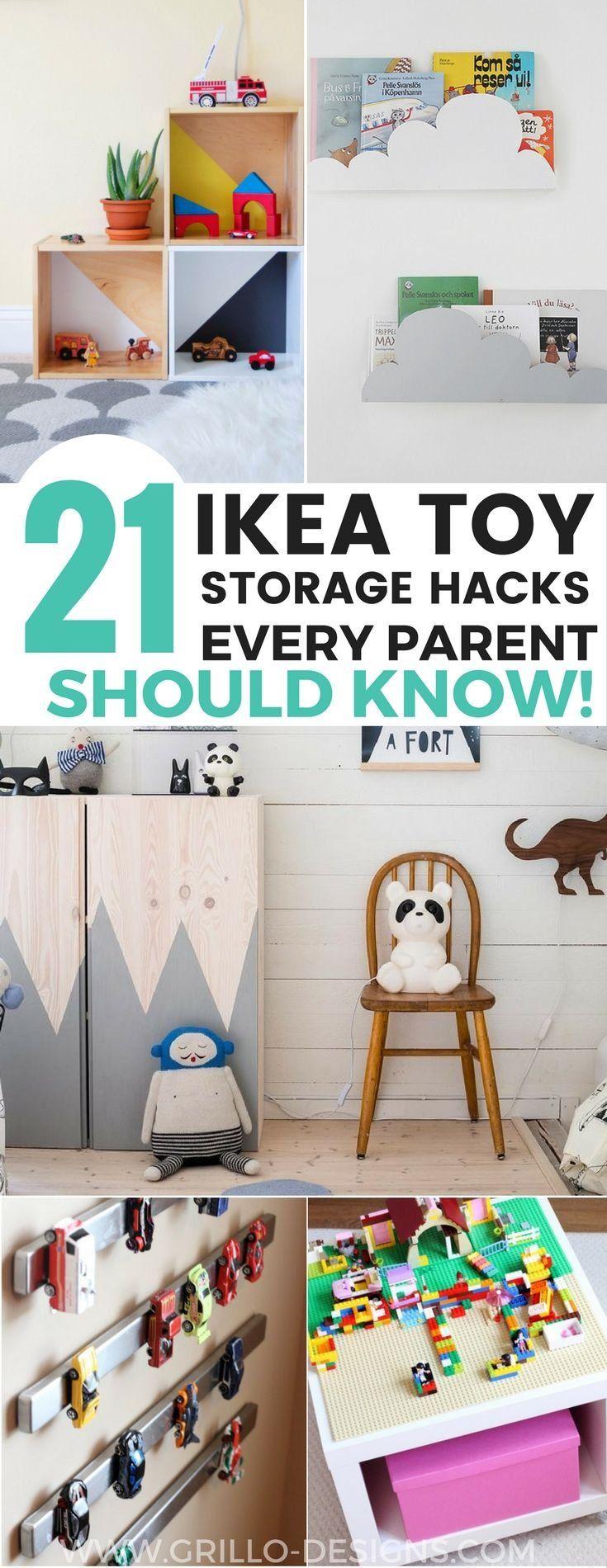 21 IKEA Toy Storage Hacks Every Parent Should Know! #kidsstorage