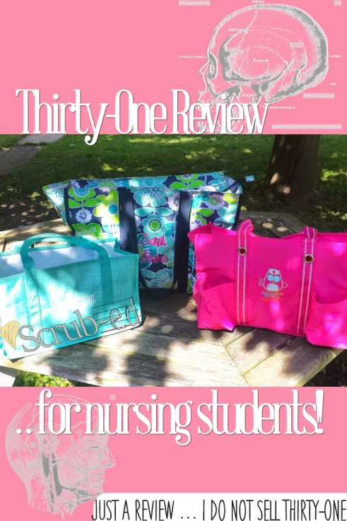Thirty-One Gifts for Nursing Students, Nurses, college students. Great way to use Thirty-One Bags for clinical and class.