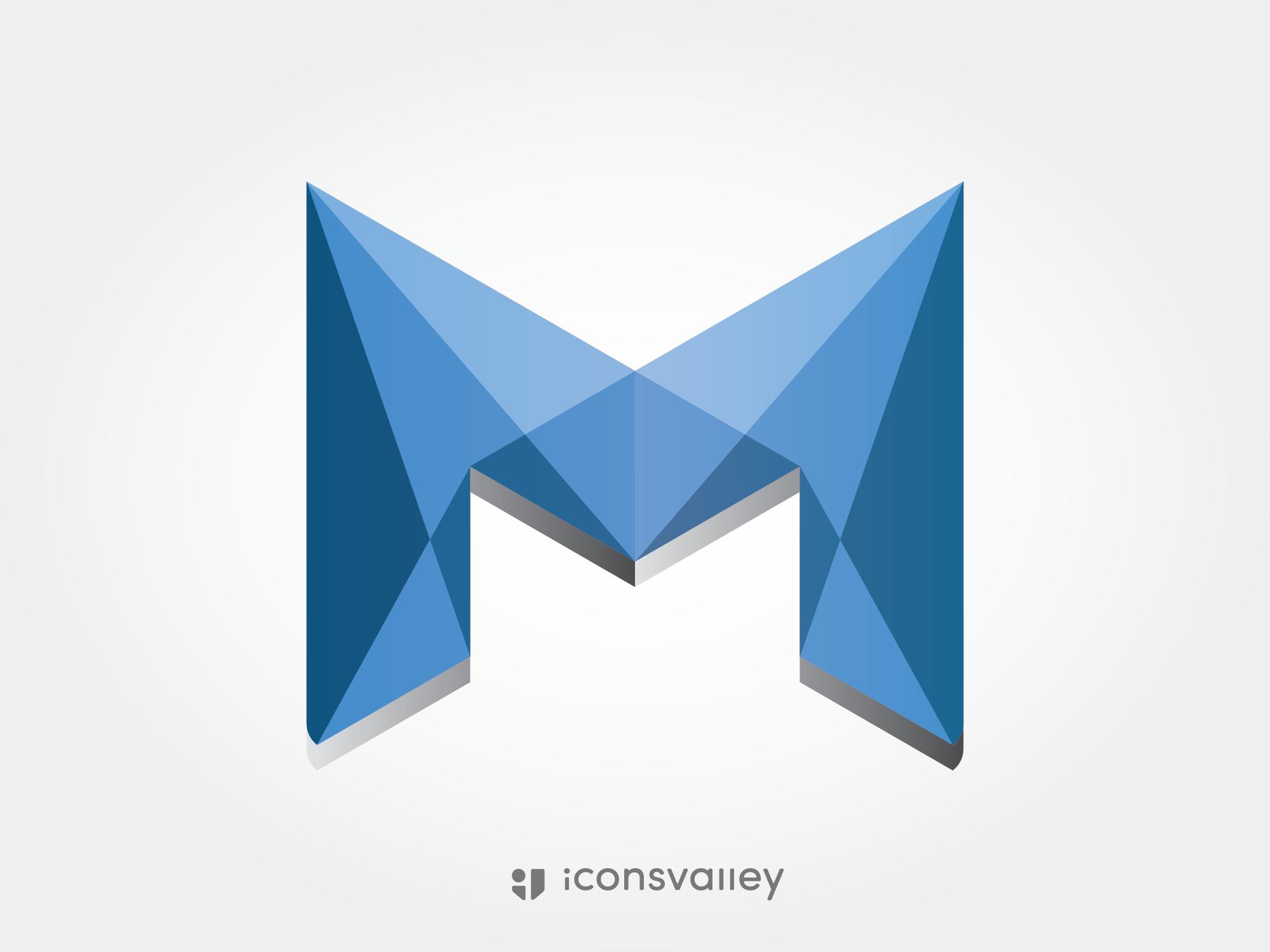 3d Geometric Letter M Geometric Logo Lettering Geometric