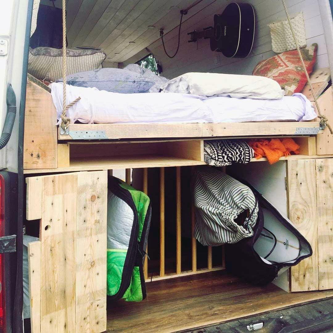 10 Campervan Bed Designs For Your Next Van Build Campervan Bed