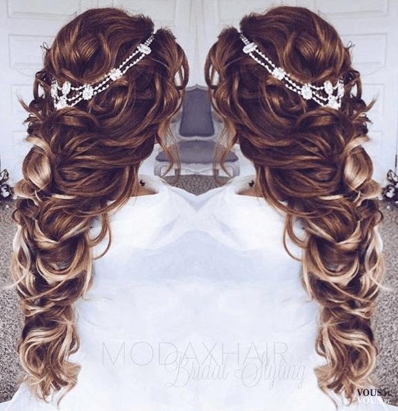 Piękna Fryzura Na Wesele Rozwalony Warkocz Włosy W 2019