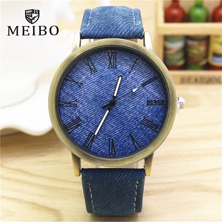 Hot Sale 2018 Fashion Brand Unisex Watch Women Men Denim Cloth Strap Quartz Bracelet Wrist Watches Relogio Feminino Clock Female Women's Watches