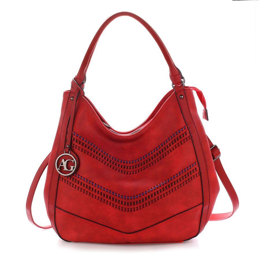9fa5ec4f77785 Czerwona torebka damska Hobo czerwony