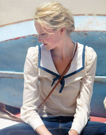 Sailor: This is an example of a sailor collar because it looks like the collars on a sailor's uniform.
