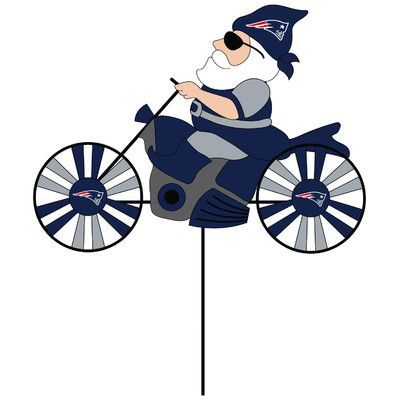 Evergreen Enterprises, Inc Motorcycle Wind Spinner NFL Team: New England Patriots