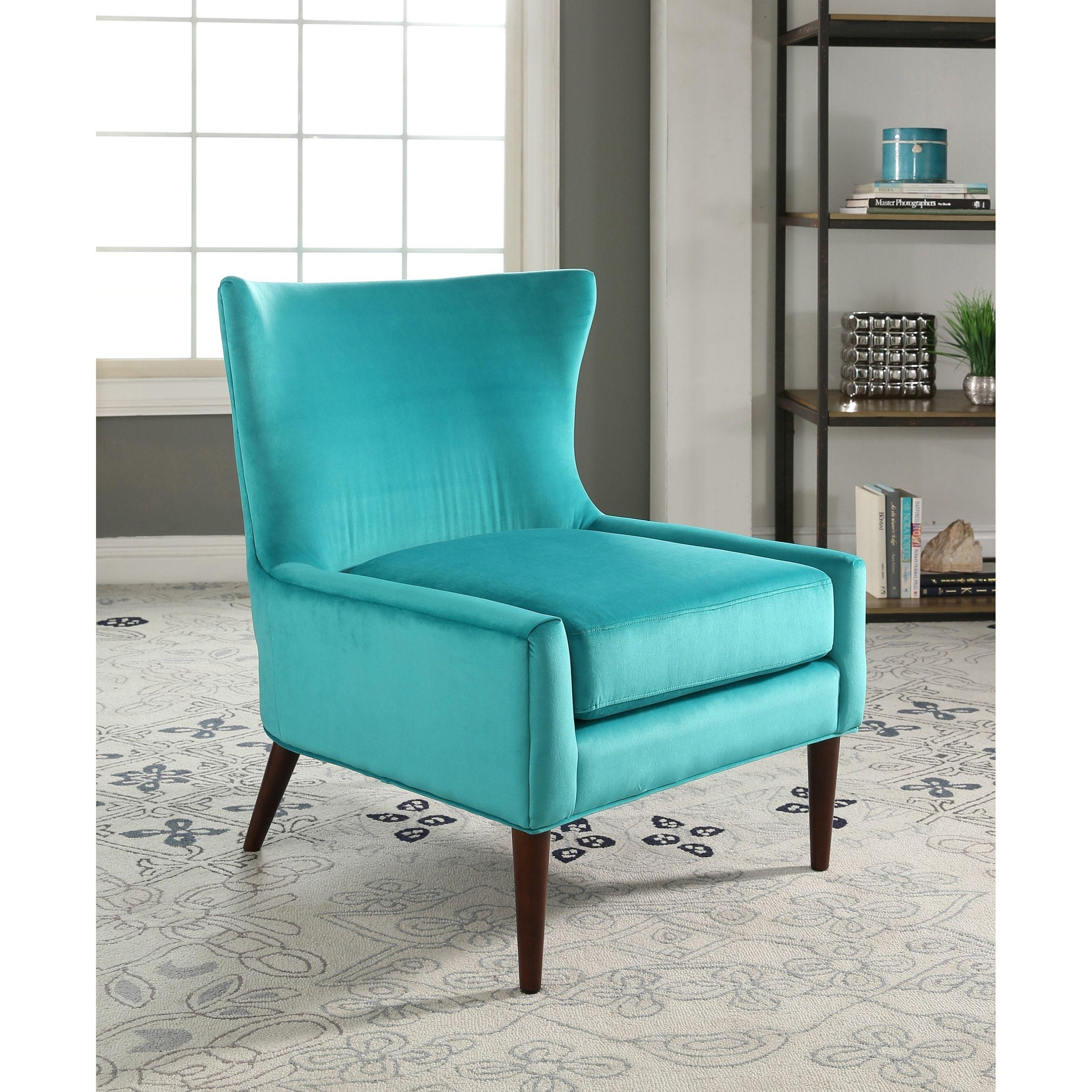Abbyson Auburn Velvet Wingback Chair (Purple)