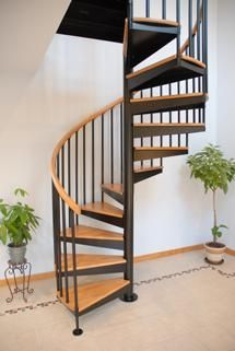 Superieur Custom Made Classic Steel Spiral Stair
