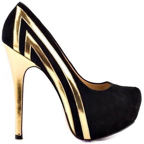 Zapatos negros y dorados  bc1260d0155