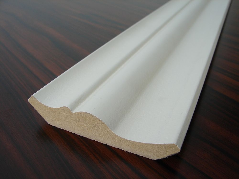 5x Dekorleiste Mdf Weiss 95x19mm Lange 2 0m 2 45 M Holzleisten Dekor Holz