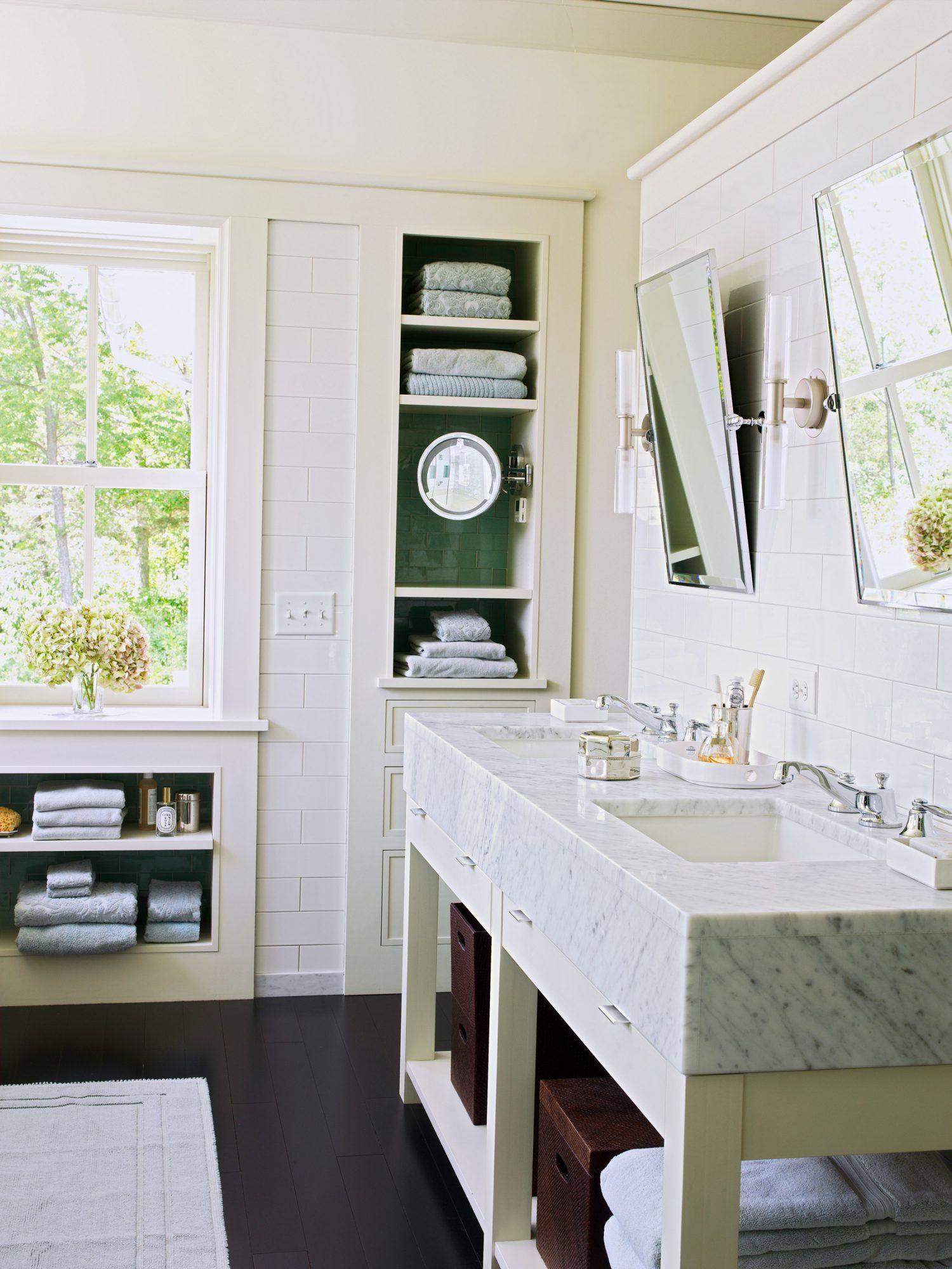 28 Towel Display Ideas For Pretty And Practical Bathroom Storage Bathroom Design Modern Bathroom Bathroom Countertops