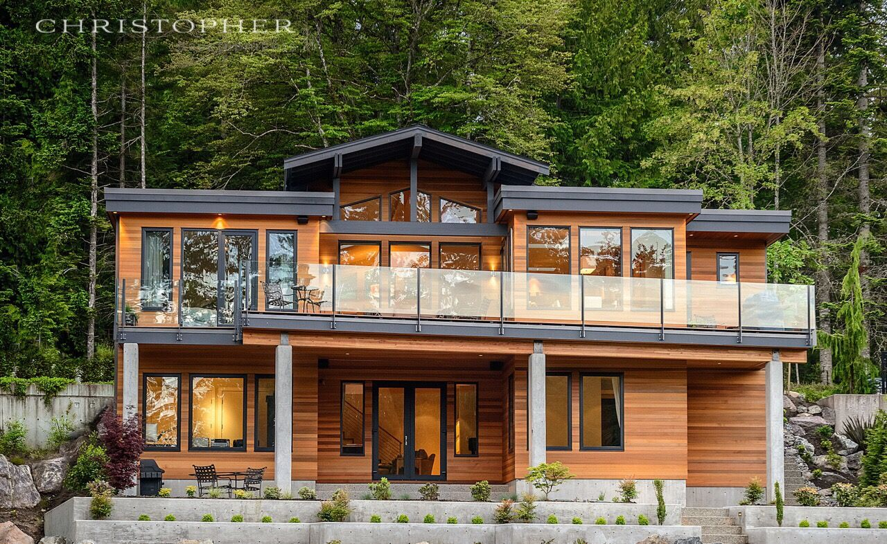 A West Coast Contemporary Home Designed And Built By Christopher Developments Victoria Bc Contemporary House Contemporary House Plans West Coast House