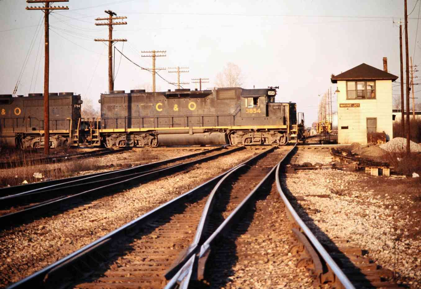 C&O, Wayne Jct, Michigan, 1973 Railroad photography