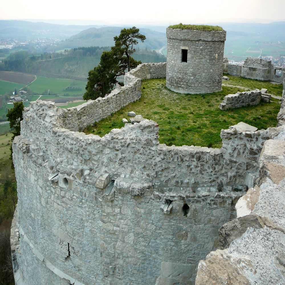 The fortress, whose ruins lie on top of Hohentwiel, was built in 914 using stone taken from the mountain itself which is an extincted volcano. It's the largest castle ruin in Germany.
