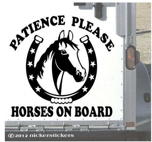 STALLIONS ON BOARD Horsebox Trailer Vinyl Lettering Stickers Decals Graphics M