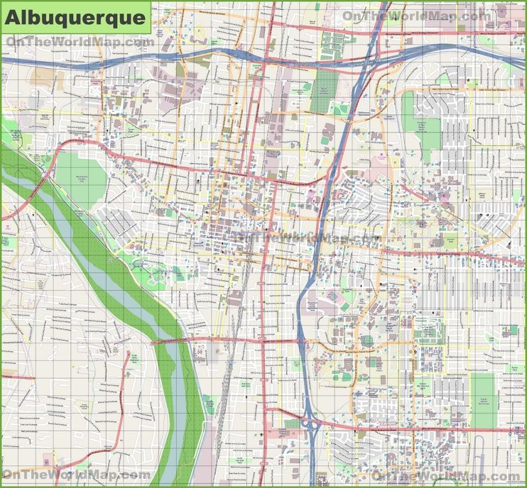 Large detailed map of Albuquerque New Community Asset Map