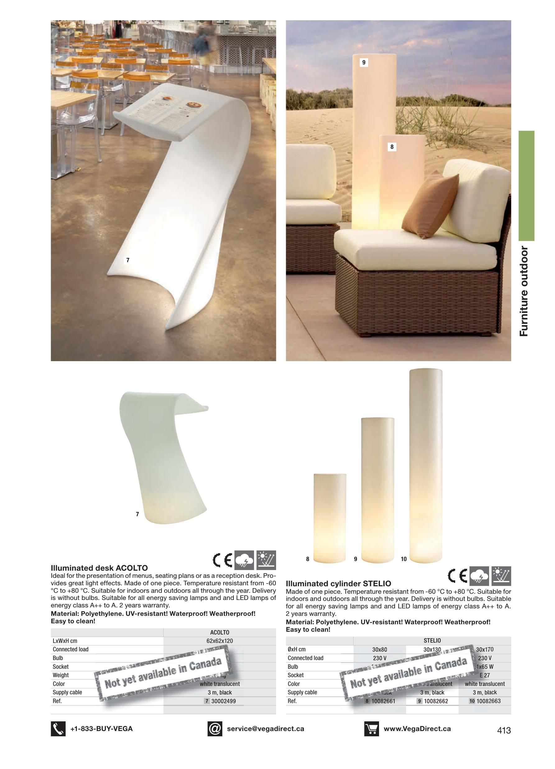 Decoration   VegaDirect ca 2019 print catalog - restaurant