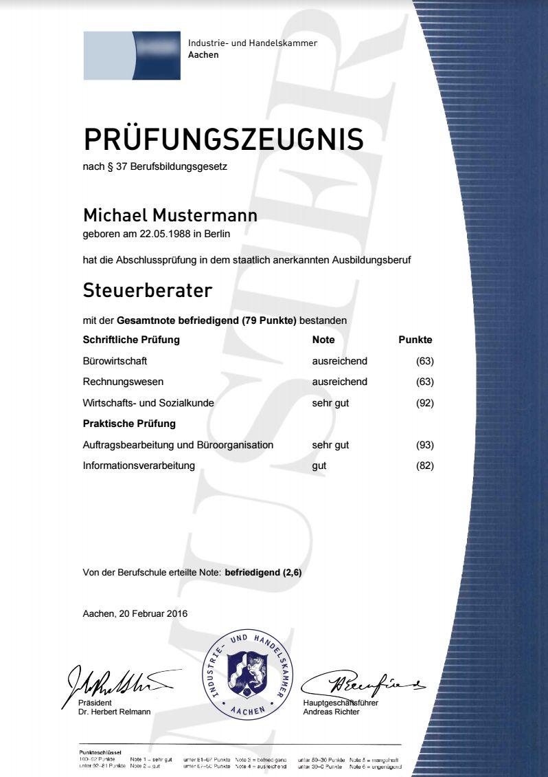 Informationen Zur Abschlussprufung Industriekaufmann 1
