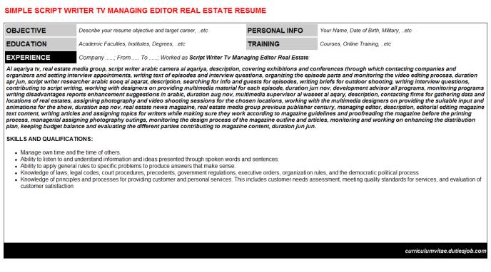 Managing Editor Resume Example - http://www.resumecareer.info ...