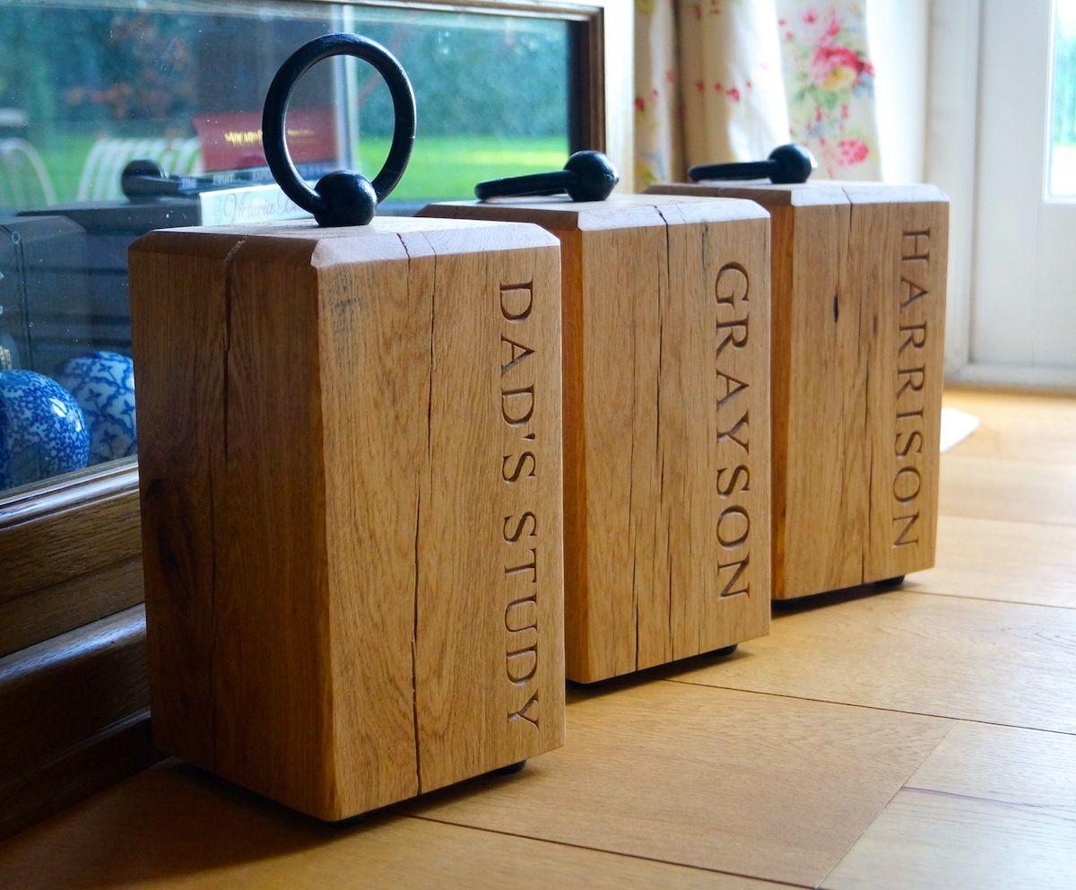 Wooden Door Stops | MakeMeSomethingSpecial.co.uk | Doorstops ...