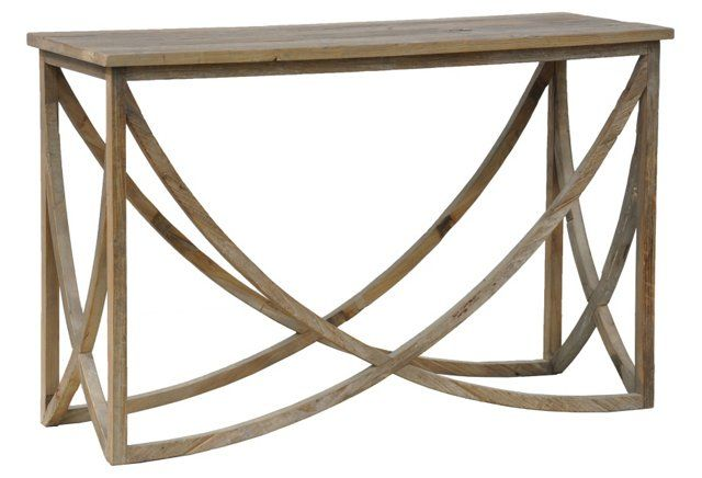 Lila Console Table Distressed Wood Classic Home Furniture Living Room Side Table Kosas Home