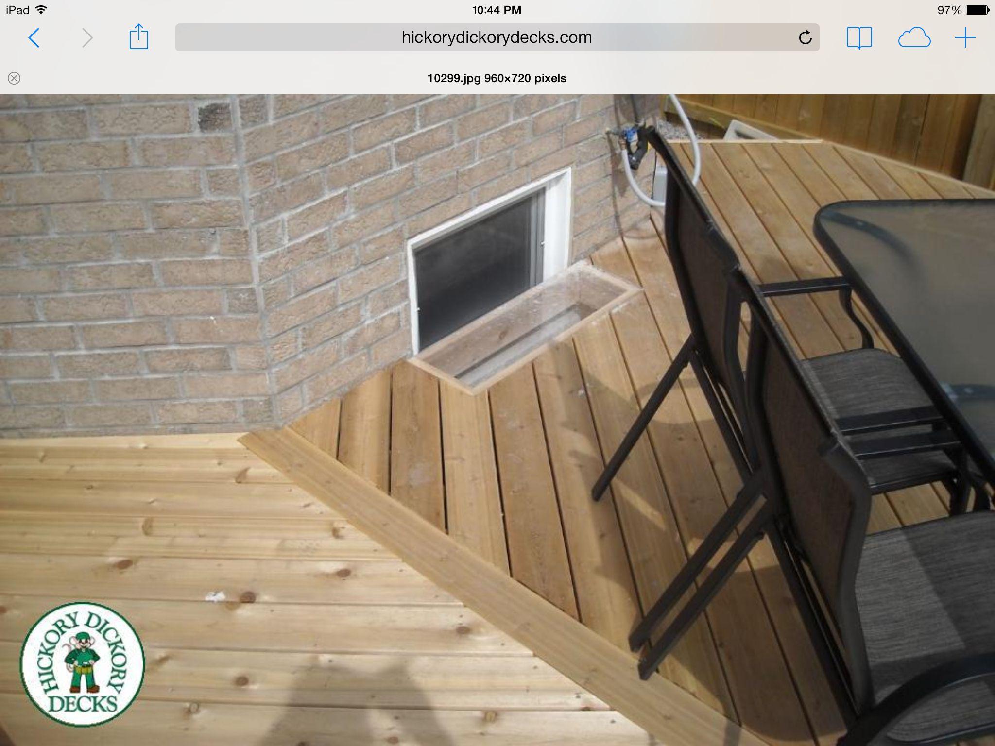 Plexi glass insert over basement window to let light through