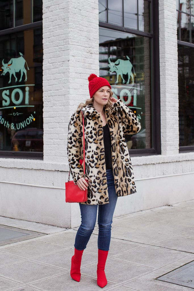 How To Style Red Ankle Boots & Leopard Coat | Reader Survey