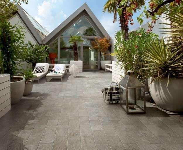 Arredare Un Terrazzo Scoperto Terrazzo In Stile Moderno Outdoor
