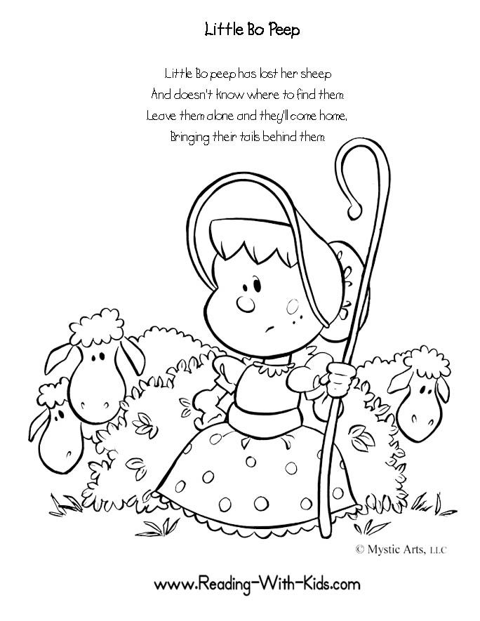 Coloring Pages Little Bo Peep Live Speakaboos Worksheets Kids
