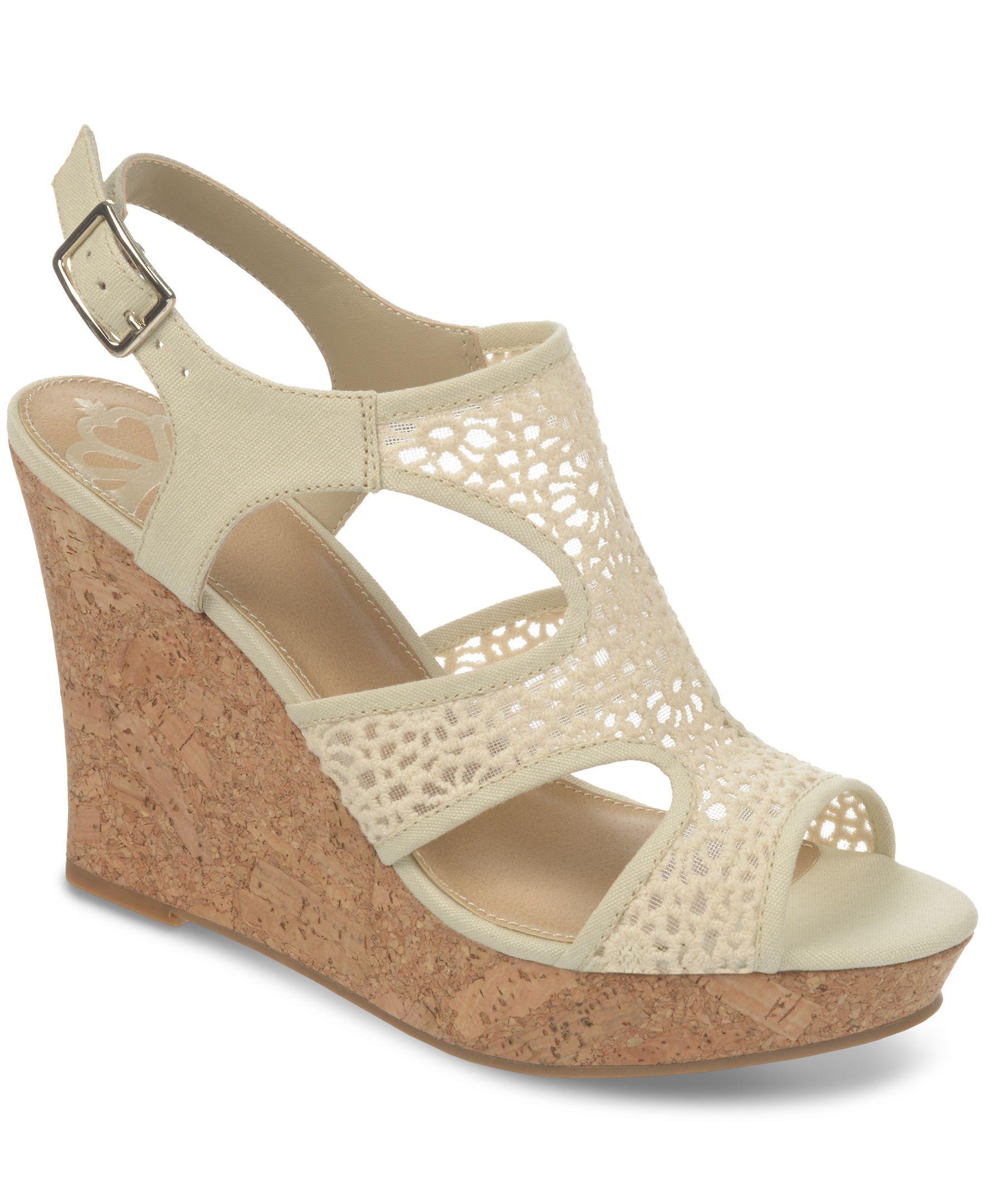 Fergalicious Kammi Crochet Platform Wedge Sandals