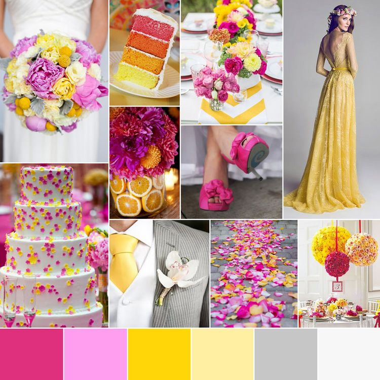 spring wedding color palette summer wedding colors