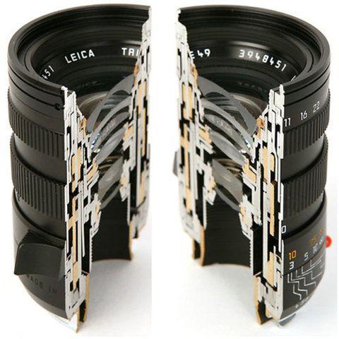 Un lente abierto, ver su funcionamiento