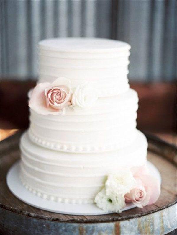 40 Elegant And Simple White Wedding Cakes Ideas Hochzeitstorte