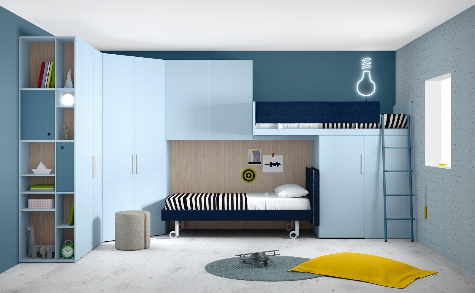 Camerette moderne soppalco Camerette, Letti loft, Camere