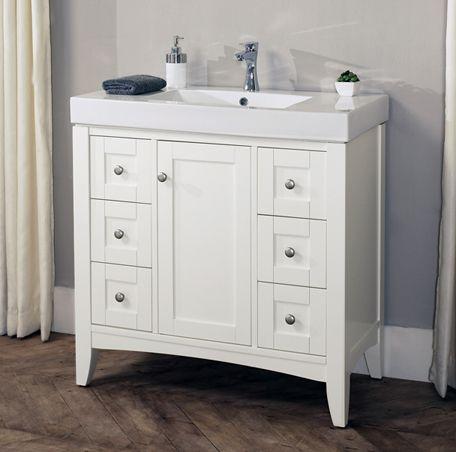 Shaker Americana 36x18 Vanity Polar White Fairmont Designs Fairmont Designs Fairmont Designs Vanity Cabinet Vanity