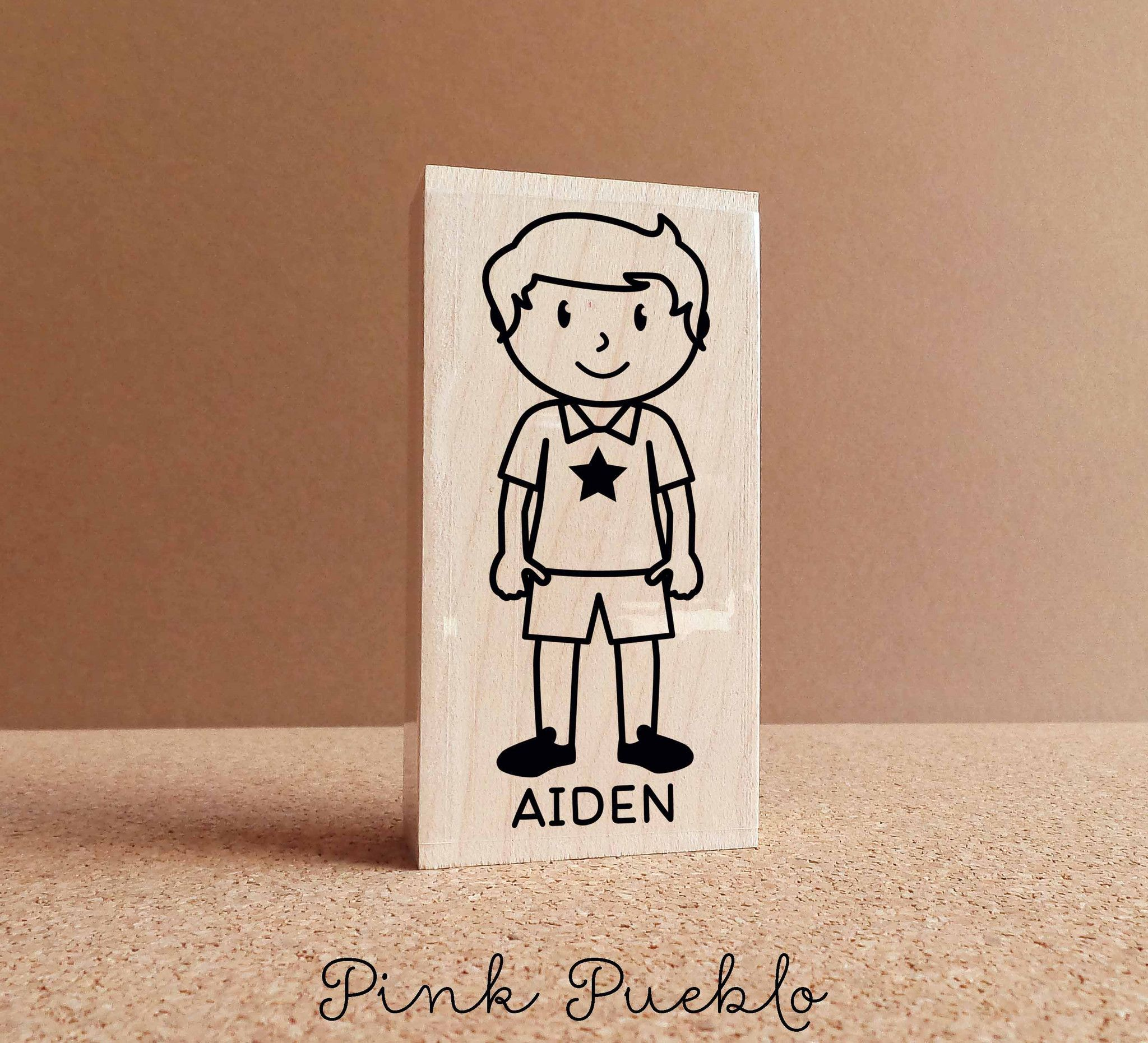 Personalized Kids Rubber Stamp