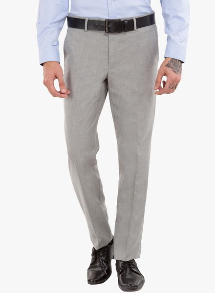 3fecc9e2591 Buy Black Coffee Grey Solid Formal Trousers for Men Online India, Best  Prices…