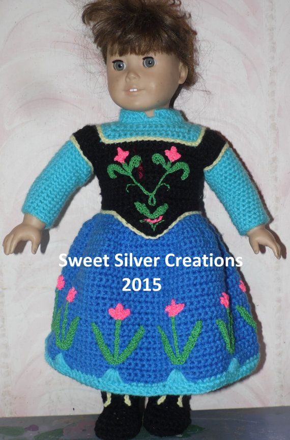 18 inch American Girl Crochet Pattern - Anna inspired outfit ...