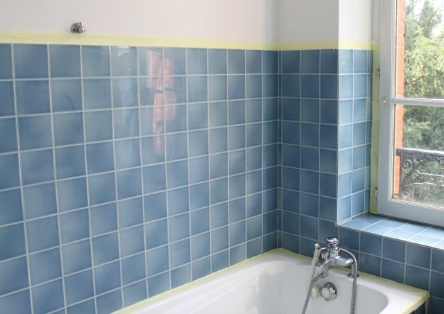 relooking salle de bain avant aprs bricolage dco comment repeindre vos carreaux - Repeindre Sa Salle De Bain