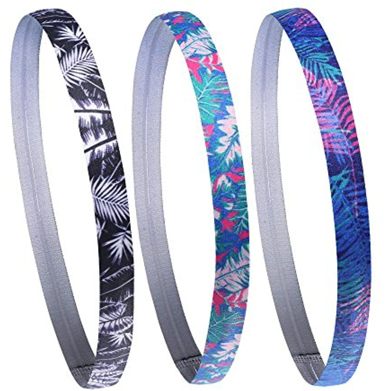 Fashion Printed Elastic Hair Hands Sport Headbands Gym Anti-Slip Slim Hair Bands