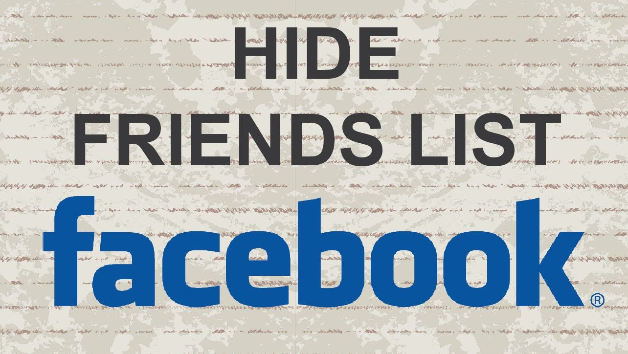 How to hide friends list on Facebook facebook video