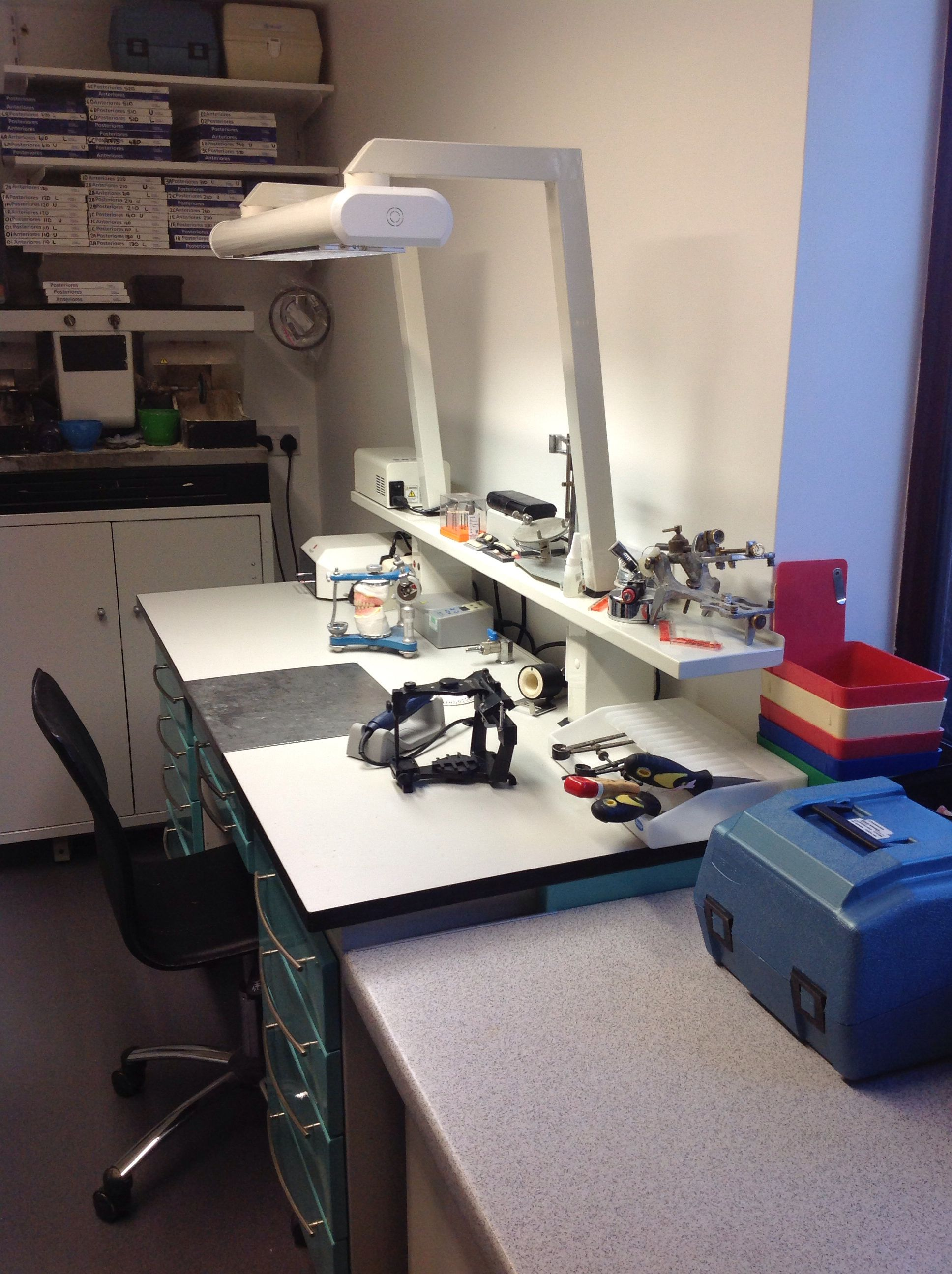 My laboratory at Southbourne  Grove Denture Clinic.
