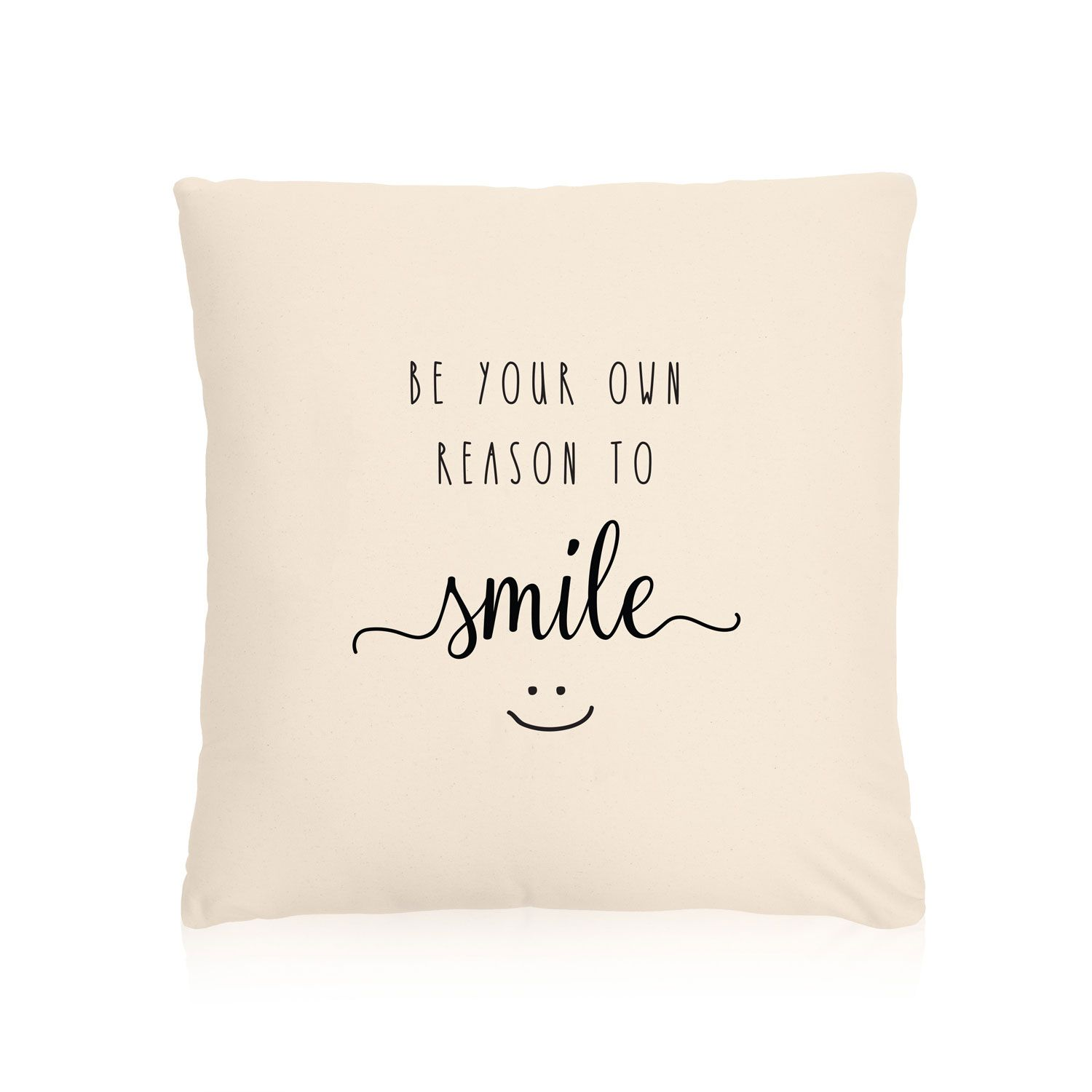 Statement Canvas Pillow Cover 18x18