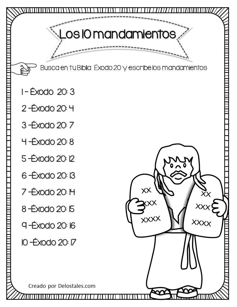 Manualidaddes Maestrasmoiss Homeschooling Mandamientos Lecciones De La Escuela Dominical Actividades De La Escuela Dominical Juegos De La Escuela Dominical