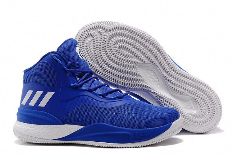 22766cdf416e 2018 adidas D Rose 8 Royal Blue White Men s Basketball Shoes   adidasbasketballshoes
